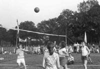 Historie: Damesvolleybalwedstrijd 1959